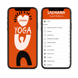 Images of Sadhana Yoga and Wellbeing App