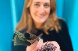 Benefits of Sea Vegetables - Beth holding seaweed